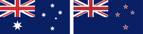 AUS NZ flags